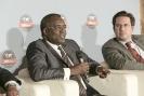 Laurent Serge Etoundi NGoa, ministre des Petites et moyennes entreprises, de l'Economie sociale et de l'Artisanat du Cameroun, au 9ème forum EMA Invest à Genève, le 3 octobre 2013