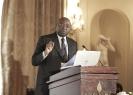 Pierre Titi, ministre délégué auprès du ministre des Finances du Cameroun, au 9ème forum EMA Invest à Genève, le 3 octobre 2013