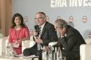 Yasmine Bahri Domon, Guy Mettan et Nicolas Imboden, au 9ème forum EMA Invest à Genève, le 3 octobre 2013