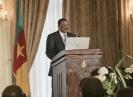 Basile Atangana Kouna, ministre de l'Energie et de l'Eau du Cameroun, au 9ème forum EMA Invest à Genève, le 3 octobre 2013