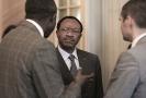 Emmanuel NGanou Djoumessi, ministre de l'Economie, de la Planification et de l'Aménagement du territoire du Cameroun, au 9ème forum EMA Invest à Genève, le 3 octobre 2013