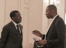 André Fotso, Président du Gicam, et Beaugas Orain Djoyum, au 9ème forum EMA Invest à Genève, le 4 octobre 2013