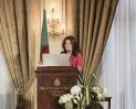 Yasmine Bahri Domon, présidente de la Fondation EMA Invest, au 9ème forum EMA Invest à Genève, le 3 octobre 2013