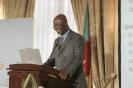 Essimi Menye, ministre de l'Agriculture du Cameroun, au 9ème forum EMA Invest à Genève, le 3 octobre 2013
